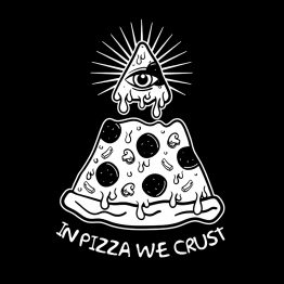 Illuminati shirt pizza opdruk