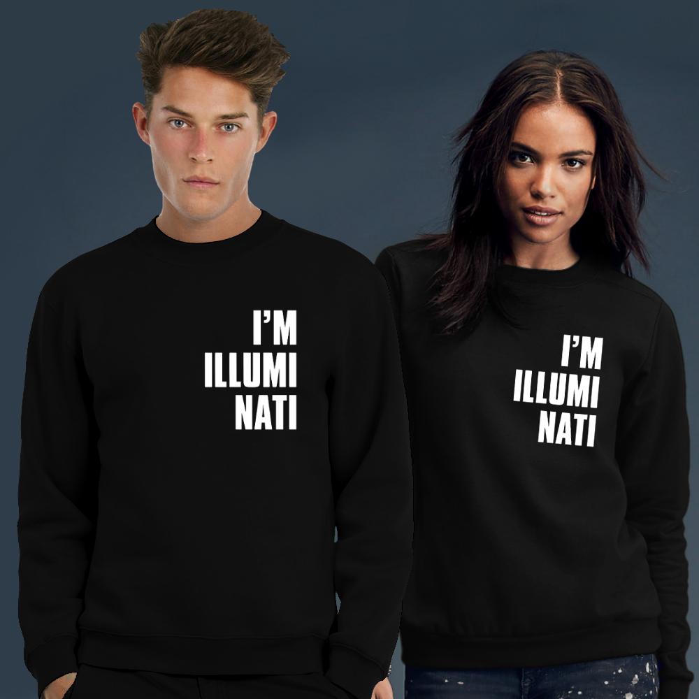 Coole Truien Dames.I Am Illuminati Sweater Trui Dames Heren Model 24 95
