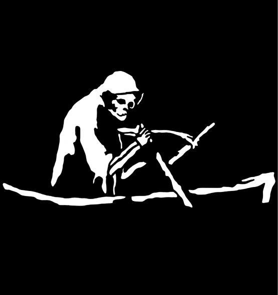 Banksy trui Grim Reaper opdruk