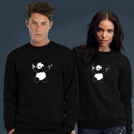 Banksy Sweater Panda Gun