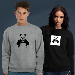 Banksy Sweater Panda Love