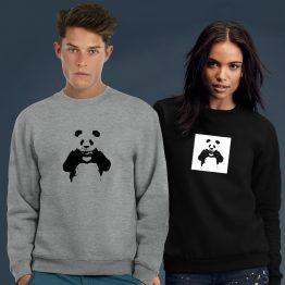 Banksy Sweater Panda Love