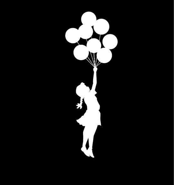 Banksy trui ballon girl opdruk