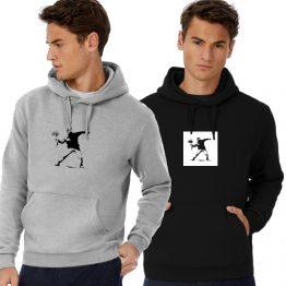 Banksy hoodie Flower Rebel