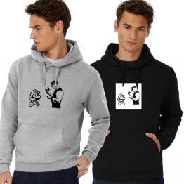 Banksy hoodie Mario Police