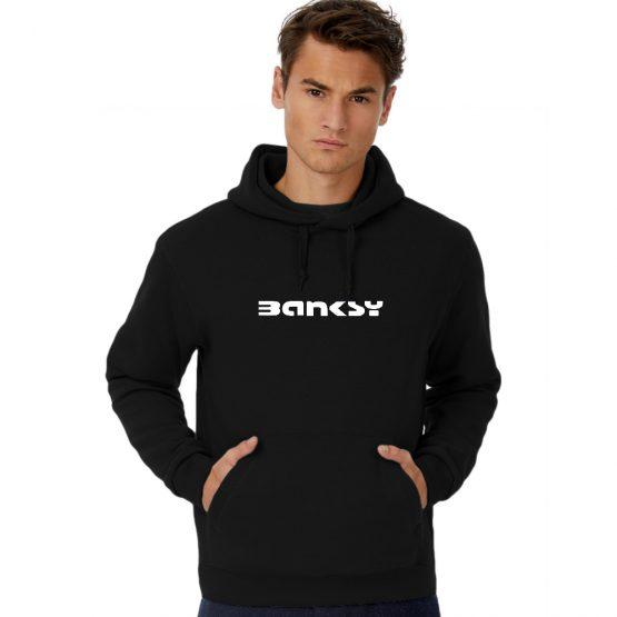 Banksy hoodie Tag logo