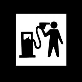 Banksy sweater petrol opdruk