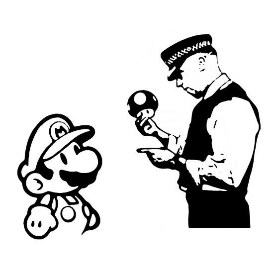 Banksy trui police mario