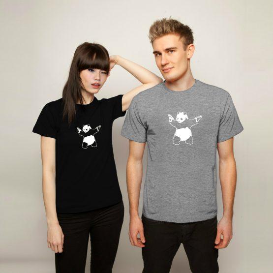 Banksy shirt Panda Guns
