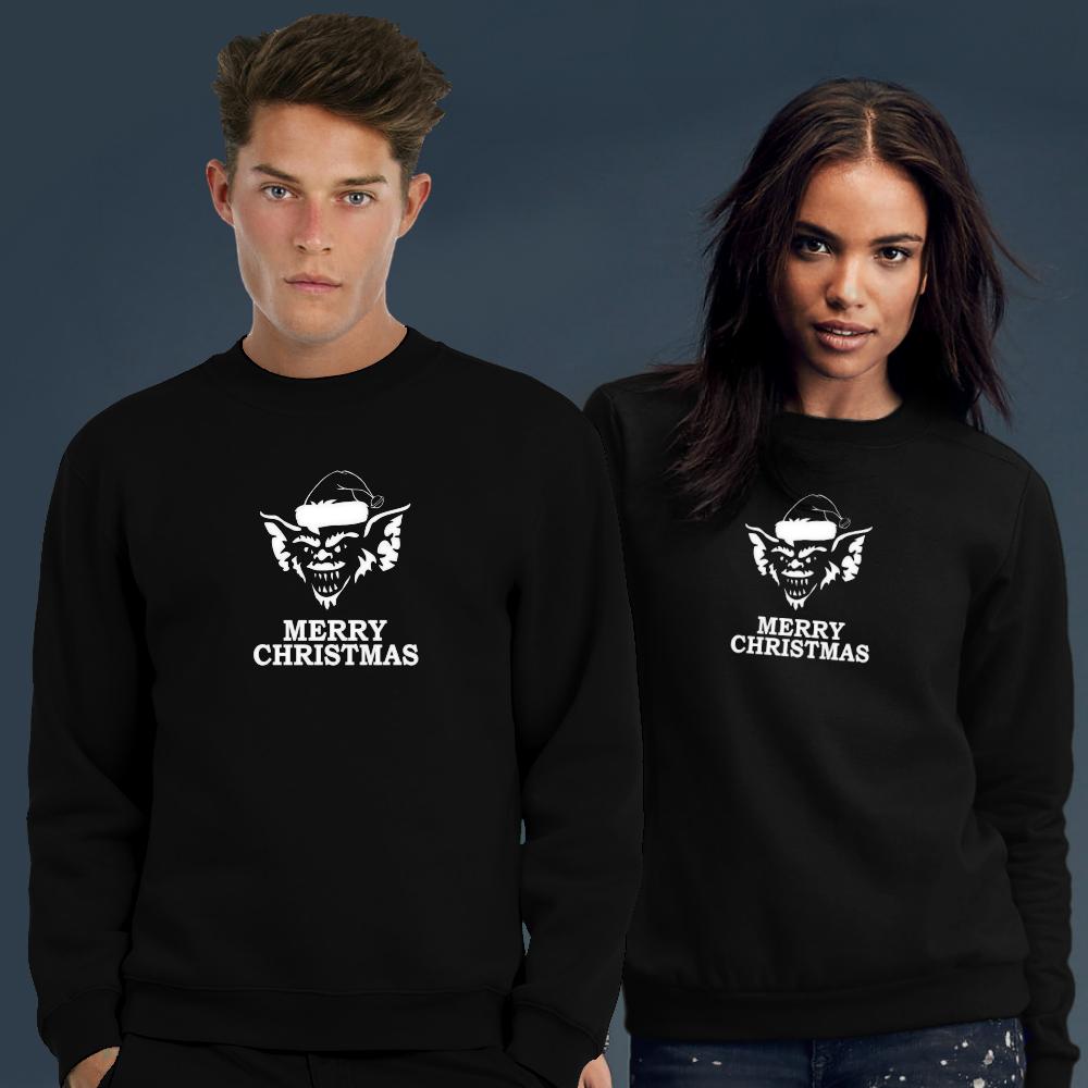 Kersttrui Actie.Gremlins Kersttrui In Het Zwart 24 95 Voordelige Kerstsweaters