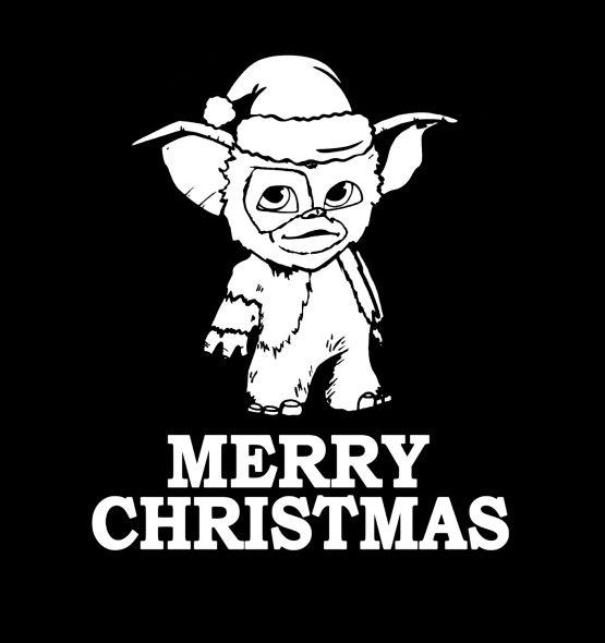 Gremlins Kersttrui zwart merry 3