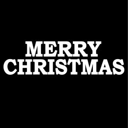 Merry Christmas Kersttrui zwart opdruk 3