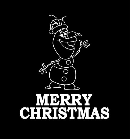Olaf Kersttrui zwart merry 3