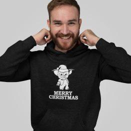 Zwarte Kerst Hoodie Gremlins