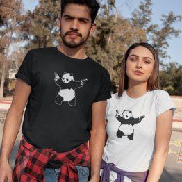 Panda T Shirt Panda Guns