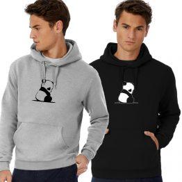 Panda hoodie trui Sad