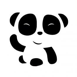 Panda kleding hi opdruk