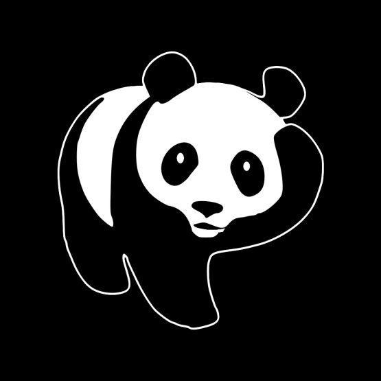 Panda kleding scratch 2 opdruk