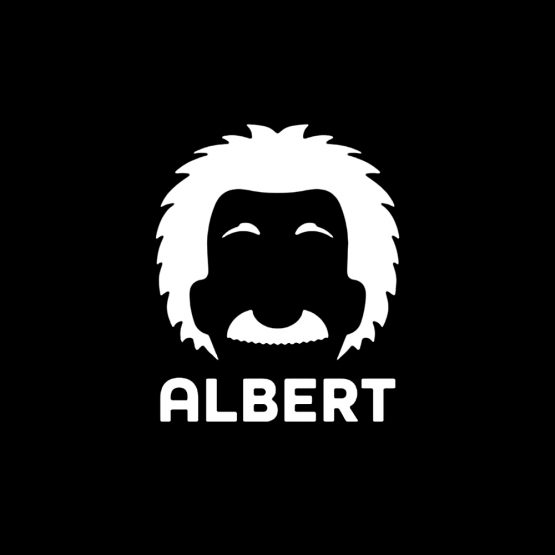 Albert Einstein cartoon 1