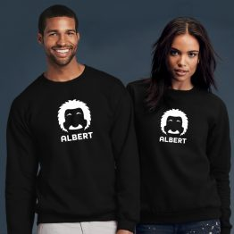 Albert Einstein sweater cartoon