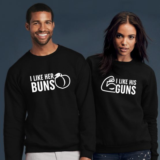 Valentijnsdag Sweater Buns Guns
