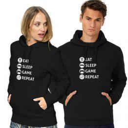 Gaming hoodie Eat Sleep Game Repeat
