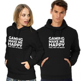 Gaming hoodie Make me Happy