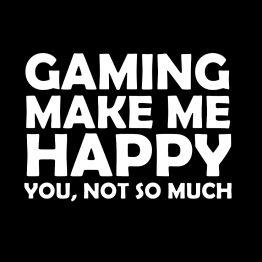Gaming hoodie Make me Happy opdruk