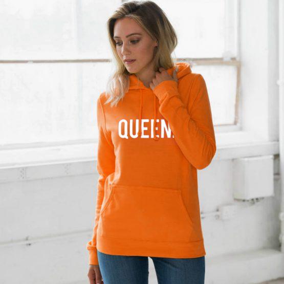 Koningsdag hoodie Queen