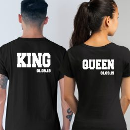 King Queen Shirt met Datum