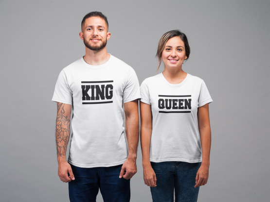 King Queen shirts Lines Wit