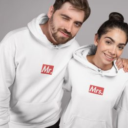Mr en Mrs hoodie Supremely wit