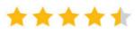 4,5 sterren rating