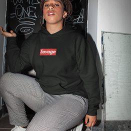 Savage hoodie zwart