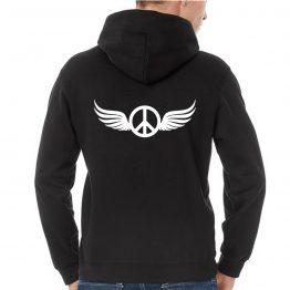 Peace hoodie wings