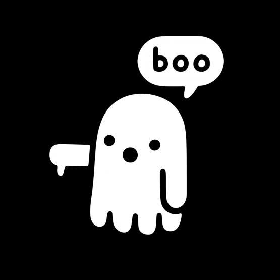 Halloween Boo opdruk 2