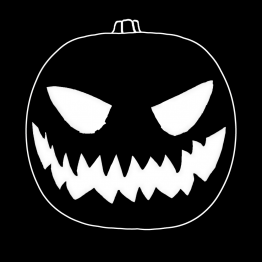 Halloween pompoen opdruk