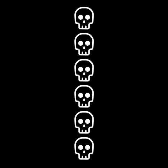 Skulls Halloween hoodie mouw