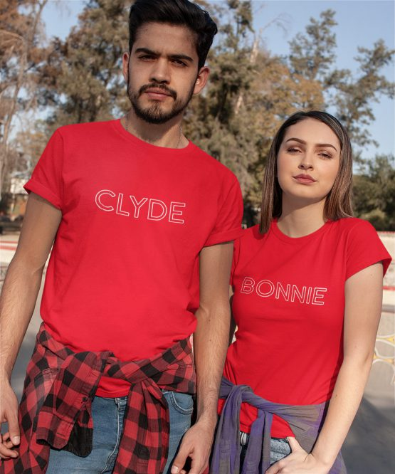 Bonnie Clyde T Shirts Rood