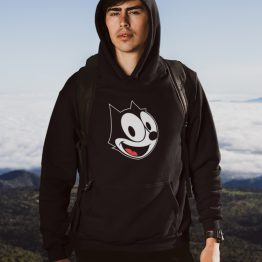Felix the Cat Hoodie Face