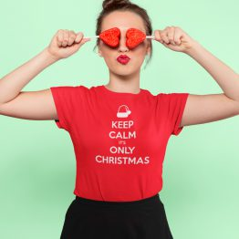 Kerst T-shirt Keep Calm