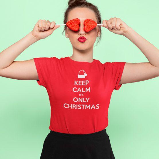Kerst T-shirt Keep Calm