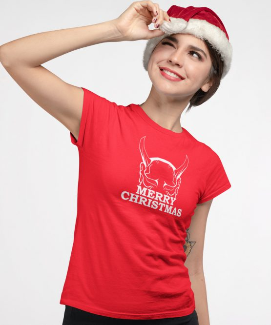 Kerst T-shirt Merry Horns