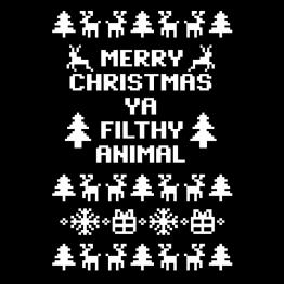 Kerstkleding Opdruk Filthy