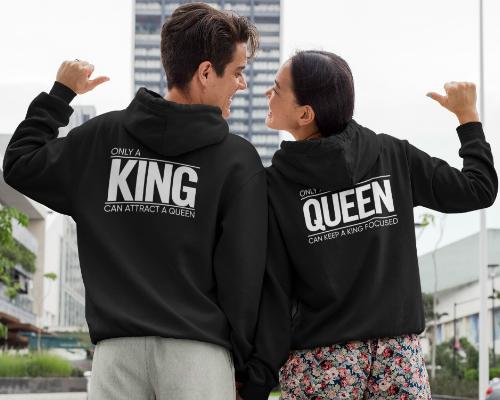 King Queen kleding Banner