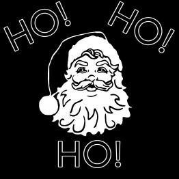 Santa Opdruk HO HO HO