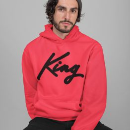 King Hoodie Premium Red Black