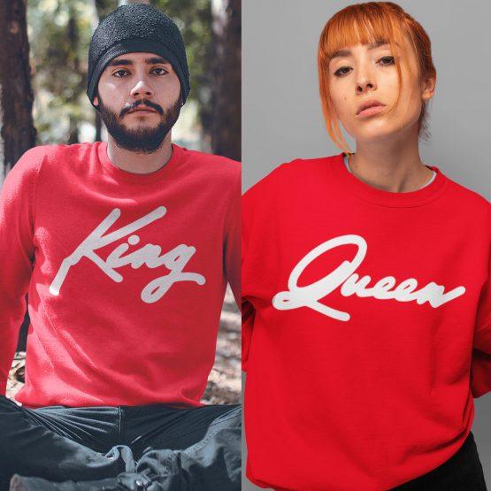 King Queen Trui Premium Red