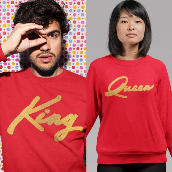 King Queen Trui premium Red Gold