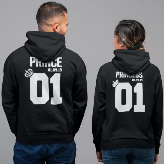 Prince Princess 01 met Datum Hoodies